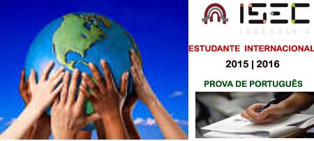 ESTUDANTE INTERNACIONAL 2015   2016   PROVA DE PORTUGUÊS